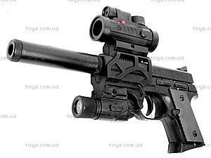 Детский пистолет, с лазером и пульками, CZ2075