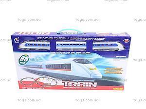 Детский поезд с подсветкой, 2913C-7, іграшки