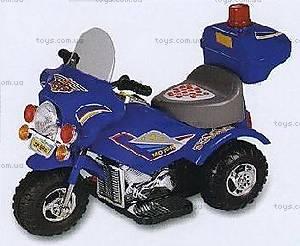 Детский полицейский мотоцикл-электромобиль, ZP-9886 BLUE