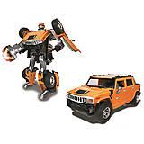Детский робот-трансформер Hummer H2, 53091R, детские игрушки