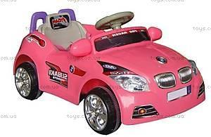 Детский розовый электромобиль BMW, C-002