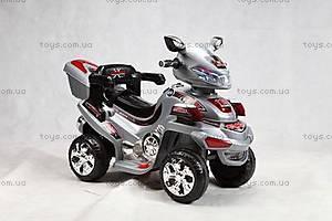 Детский серебристый квадроцикл, K-011