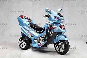 Детский серебристый мотоцикл, C-017