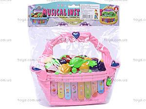 Детский синтезатор «Фрукты и овощи», 06-28B, купить