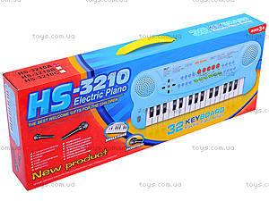 Детский синтезатор, с 2-мя динамиками, HS3210A, купить