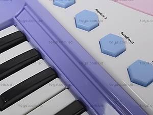 Детский синтезатор с караоке, JXT88016, игрушки