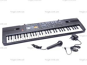 Детский синтезатор, с микрофоном, MQ-6107, игрушки