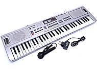 Детский синтезатор с микрофоном, MQ-011FM