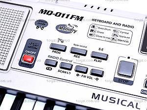 Детский синтезатор с микрофоном, MQ-011FM, детские игрушки