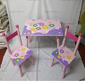 Детский стол и стулья с цветами, W02-885(H912)