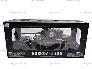 Детский танк с радиоуправлением, 93624101-34, детские игрушки