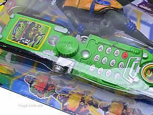 Детский телефон и фигурка «Черепашки-Ниндзя», 2381C, игрушки