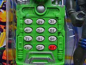 Детский телефон и фигурка «Черепашки-Ниндзя», 2381C, детские игрушки