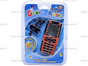 Детский телефон с наушниками, W02-3733, купить