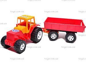 Детский трактор с большим прицепом, 0074
