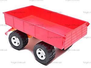 Детский трактор с большим прицепом, 0074, купить