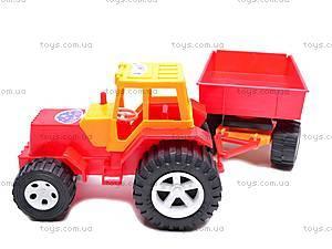 Детский трактор с большим прицепом, 0074, фото