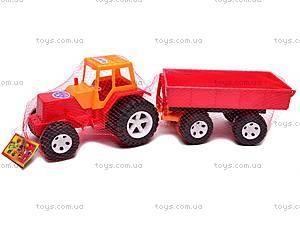 Детский трактор с большим прицепом, 0074, отзывы