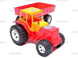 Детский трактор с большим прицепом, 0074, цена