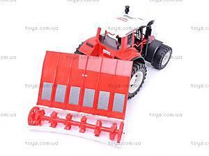 Детский трактор, с плугом, 0488-148, купить
