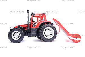 Детский трактор, с плугом, 0488-148