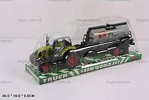 Детский трактор с прицепом, 1018-15