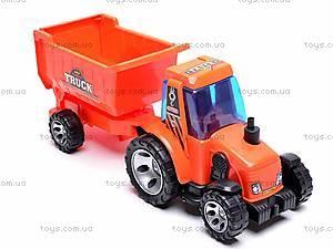 Детский трактор, с прицепом, FD605A, купить