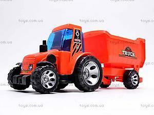 Детский трактор, с прицепом, FD605A