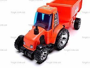 Детский трактор, с прицепом, FD605A, фото