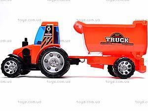 Детский трактор, с прицепом, FD605A, отзывы