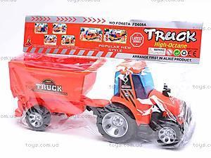 Детский трактор, с прицепом, FD605A, игрушки