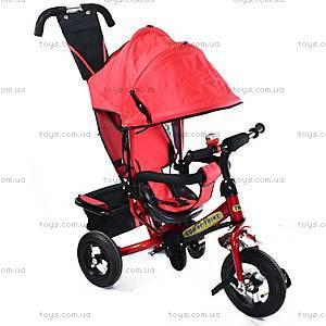 Детский трехколесный велосипед с ручкой, красный, BT-CT-0004 RE