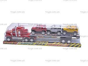 Детский трейлер, с 3 машинками, E0703-4A, фото