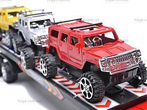 Детский трейлер, с 3 машинками, E0703-4A, игрушки