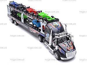 Детский трейлер с машинками, инерционный, 45635