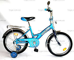 Детский велосипед, голубой с синим, BT-CB-0029