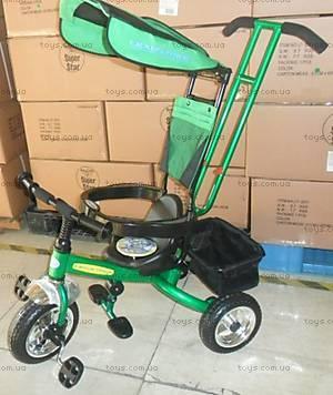 Детский велосипед с ручкой, LT-2010 GREEN