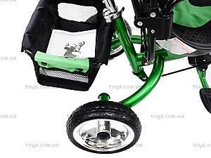 Детский велосипед трехколёсный, зеленый, XG18919-T16-2, отзывы