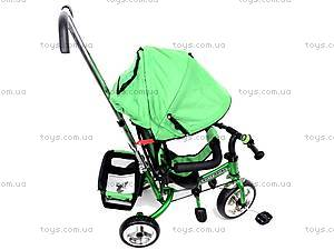 Детский велосипед трехколёсный, зеленый, XG18919-T16-2, цена