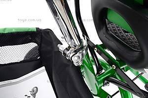 Детский велосипед трехколёсный, зеленый, XG18919-T16-2, детские игрушки
