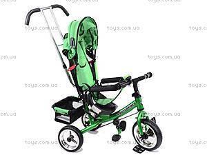 Детский велосипед трехколёсный, зеленый, XG18919-T16-2