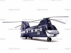Детский вертолёт SWAT, 999-063D, игрушки