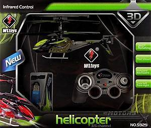 Детский вертолёт WL Toys с автопилотом (зеленый), WL-S929g, цена