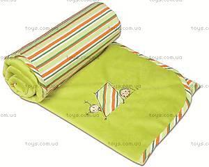 Детское одеяло Love, зеленое, 0137-L-52