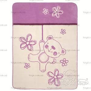 Детское одеяло Teddy, фиолетовое, 0201-19