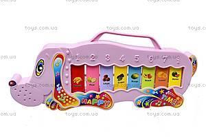 Детское пианино «Звери», 3016, игрушки