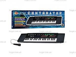 Детское пианино с микрофоном и записью,