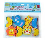 Детские аква-пазлы для ванной «Смешные животные», GB-FM4A, магазин игрушек