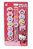 Детские часы Hello Kitty с набором сменных панелей, HKRJ15, toys.com.ua