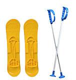 Детские лыжи «BIG FOOT» желтые, 6586, отзывы